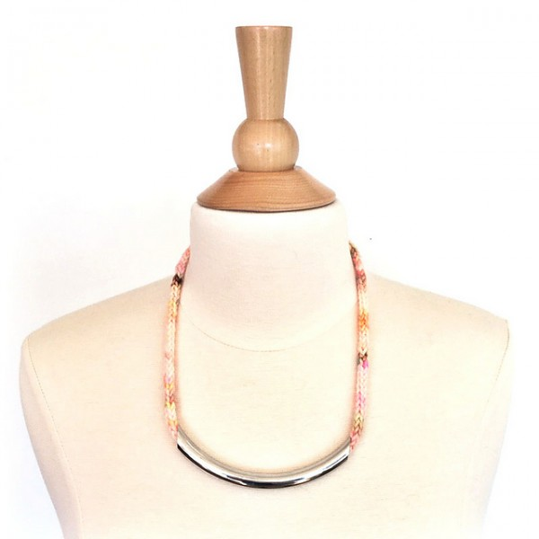knit i-cord necklace
