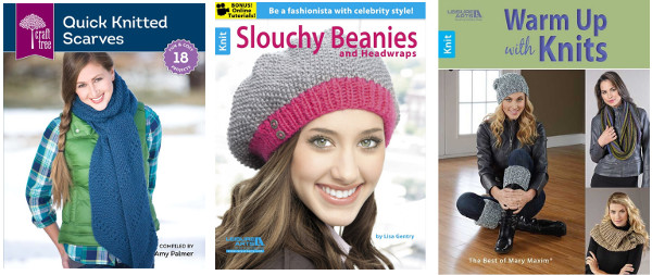 Warm knitting pattern booklets giveaway