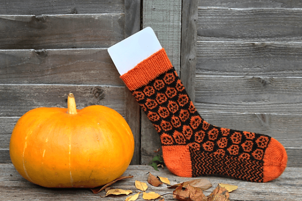 pumpkin patch sock knitting pattern