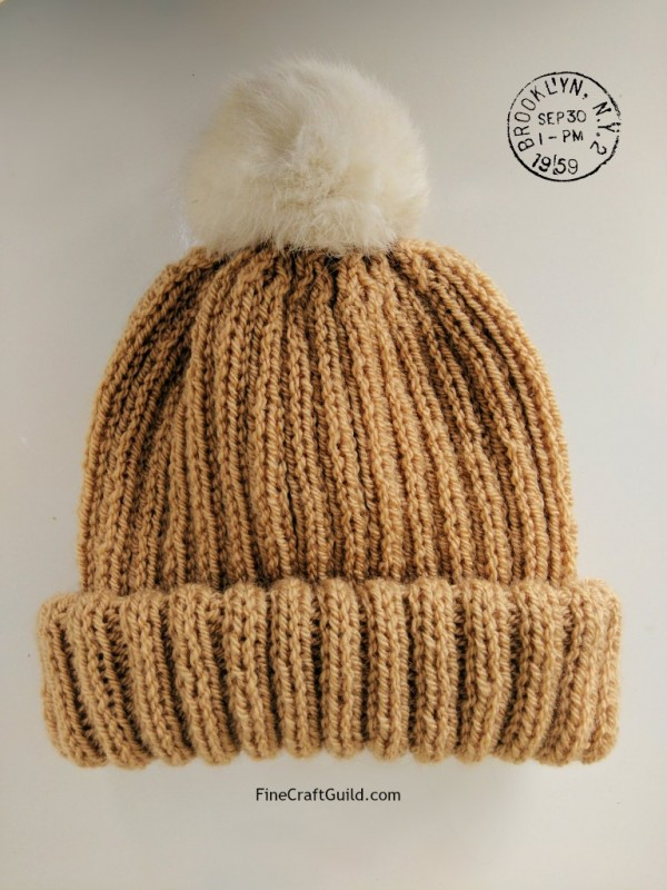 Knit the Classic Hat of the Season: A Pompom Beanie