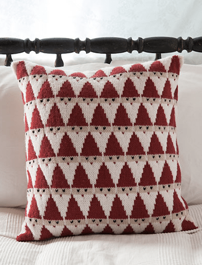 knit santa pillow