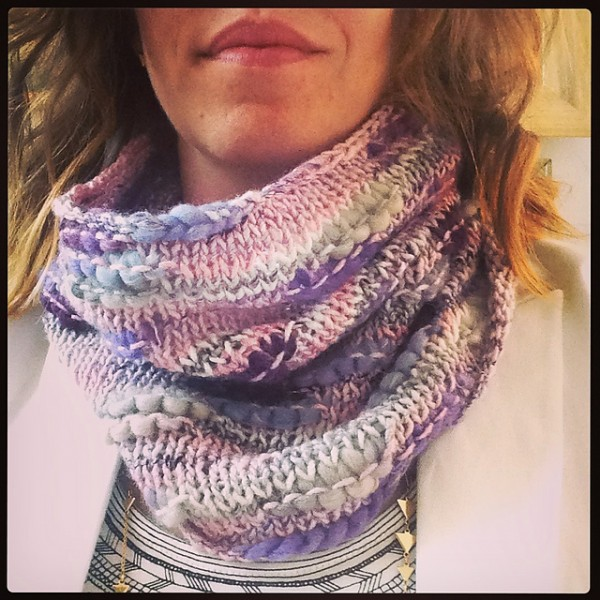 simple rules cowl quick knitting pattern