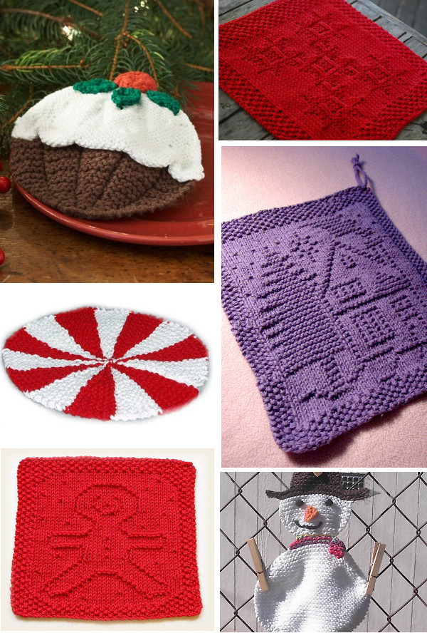 christmas dishcloth knitting patterns