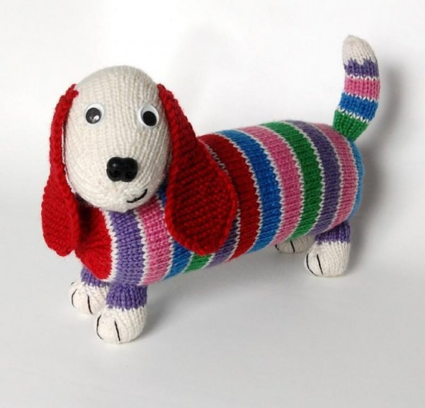 striped dog stash busting knitting patterns