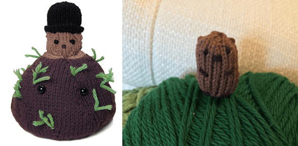 Sweet Knits for Groundhog Day