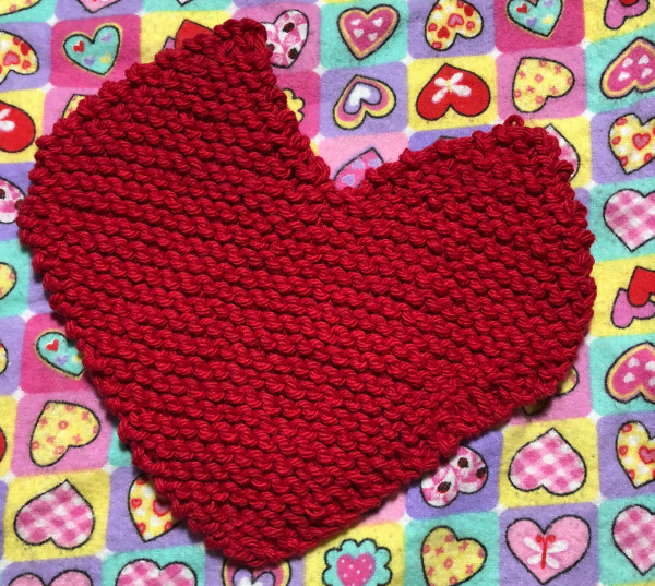 how to knit a heart-shaped washcloth