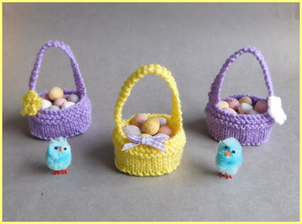 tiny knit easter basket