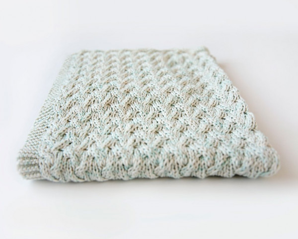 Knit a Sweet Baby Blanket in Waterfall Cables