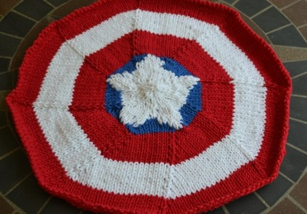 Knit a Trivet Inspired By Captain America