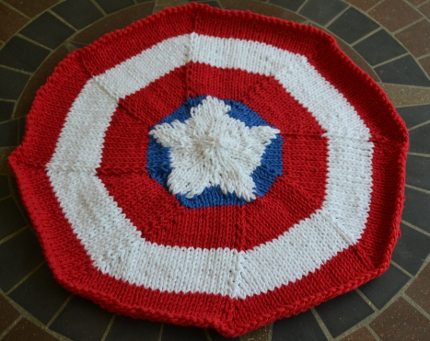 captain america knit placemat