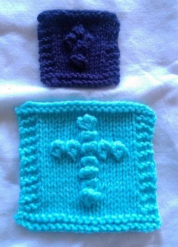 knit prayer square