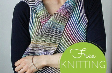 Knit a Simple Striped Vest