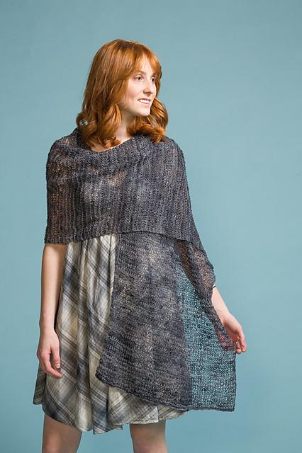linen garter stitch wrap