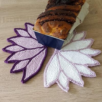water lily dishcloth knitting pattern