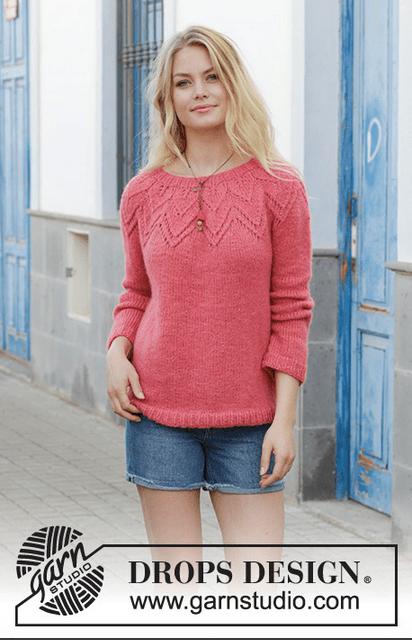 lace yoke sweater knitting pattern
