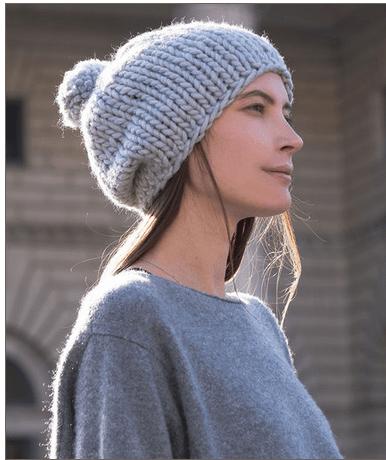easy stockinette hat knitting pattern
