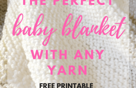 The Basics of Knitting a Baby Blanket