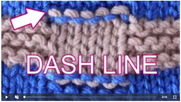 how to eliminate purl dashes when knitting stripes