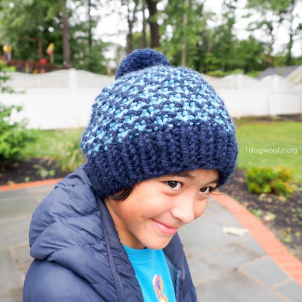 mixtape beanie knitting pattern