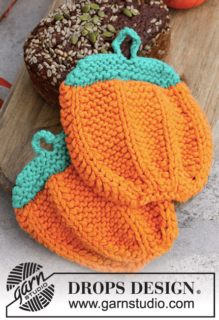 pumpkin potholder knitting pattern
