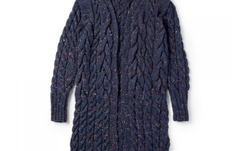 Stitch a Classic Cabled Coat with Tweed Yarn