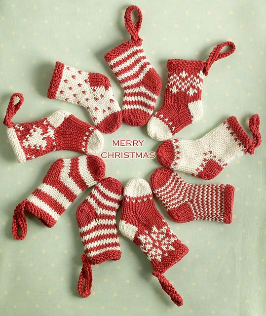 mini christmas stocking ornaments