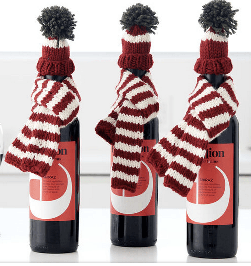 A Hat and Scarf for a Gifted Bottle – Knitting 4ff96479b1a