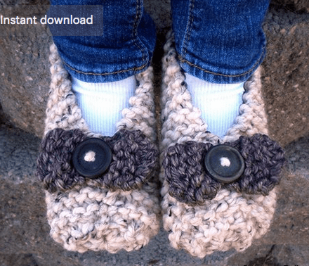 two hour knit slippers