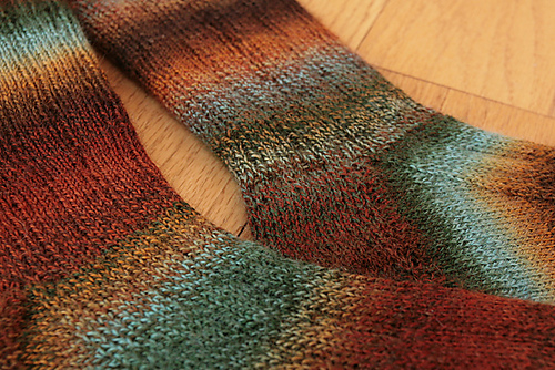 chili pepper sock knitting pattern