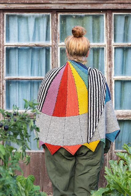 kleur rainbow shawl knitting pattern
