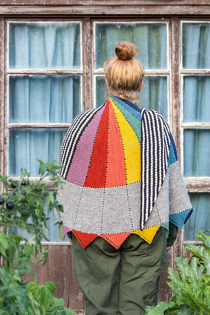 kleur rainbow shawl knitting pattern