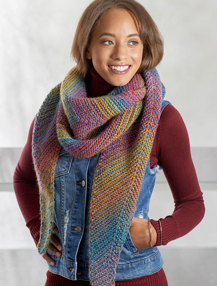 cityscape shawl knitting pattern