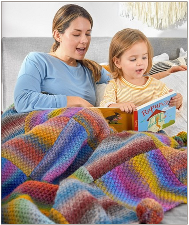 great squares knit blanket