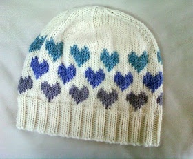 colorwork heart hat knitting pattern