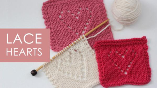 lace heart dishcloth knitting pattern