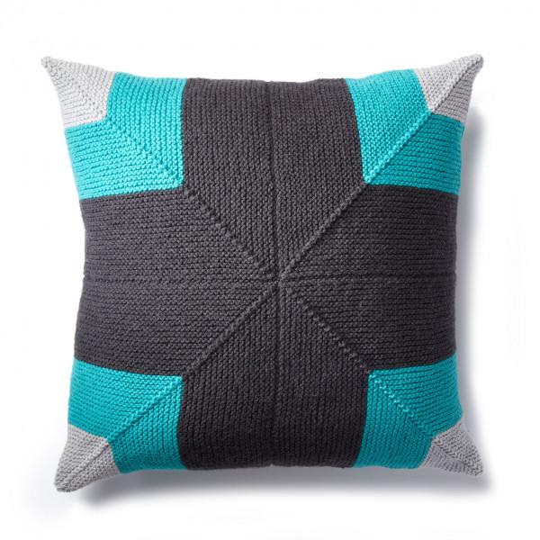 mitered square pillow knitting pattern