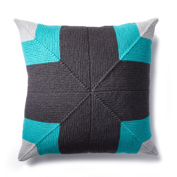 mitered square pillow knitting pattern