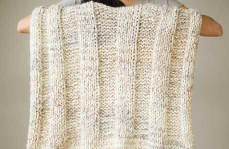 chunky knit blanket knitting pattern