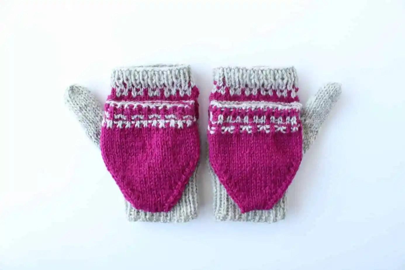 convertible glove knitting pattern