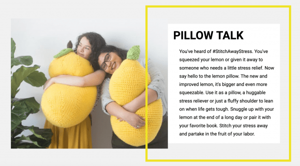lemon stress ball pillow