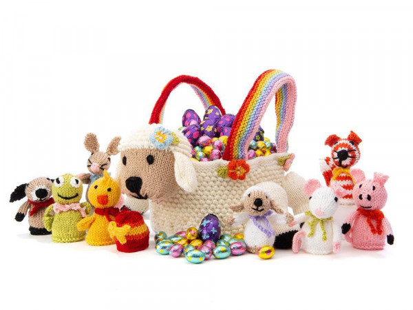 lamb easter basket knitting pattern