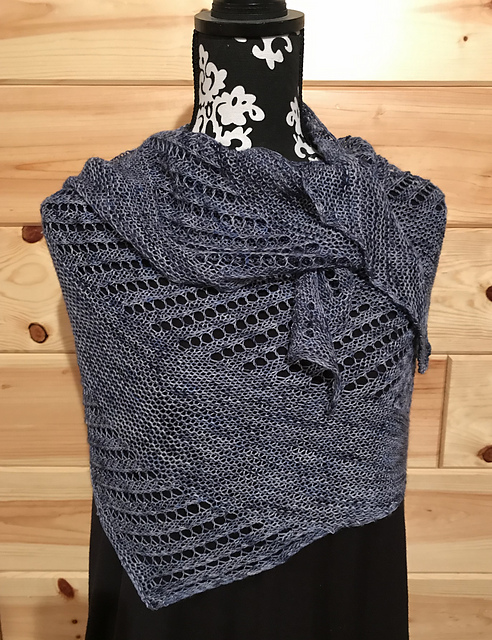 blue jean saturday shawl