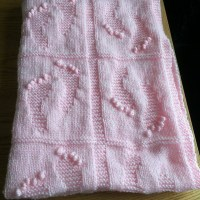 Etsy Feature  - Baby Footprints Blanket Knitting Pattern