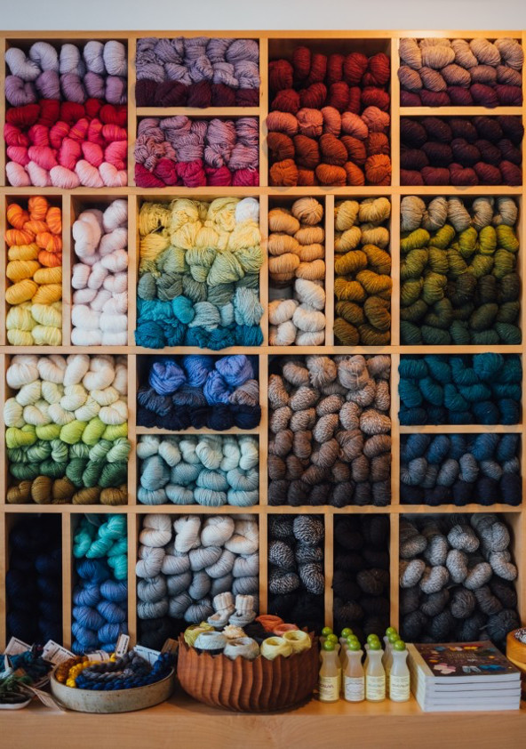 Acrylic yarn is available in a rainbow of colors perfect for any craft project.