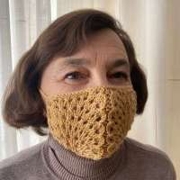 Knitted Pattern -  Surgical Face Mask Decorative Cover