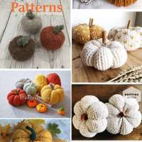 A Bunch of Easy Pumpkin Knitting Patterns