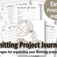 22 Page Knitting Project Journal & Planner