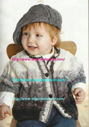 Knitted baby and child sweater patterns (252)