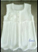 Knitted baby dress, vest, cardigan, sweater, overalls patterns (110)