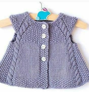 Knitted baby dress, vest, cardigan, sweater, overalls patterns (119)
